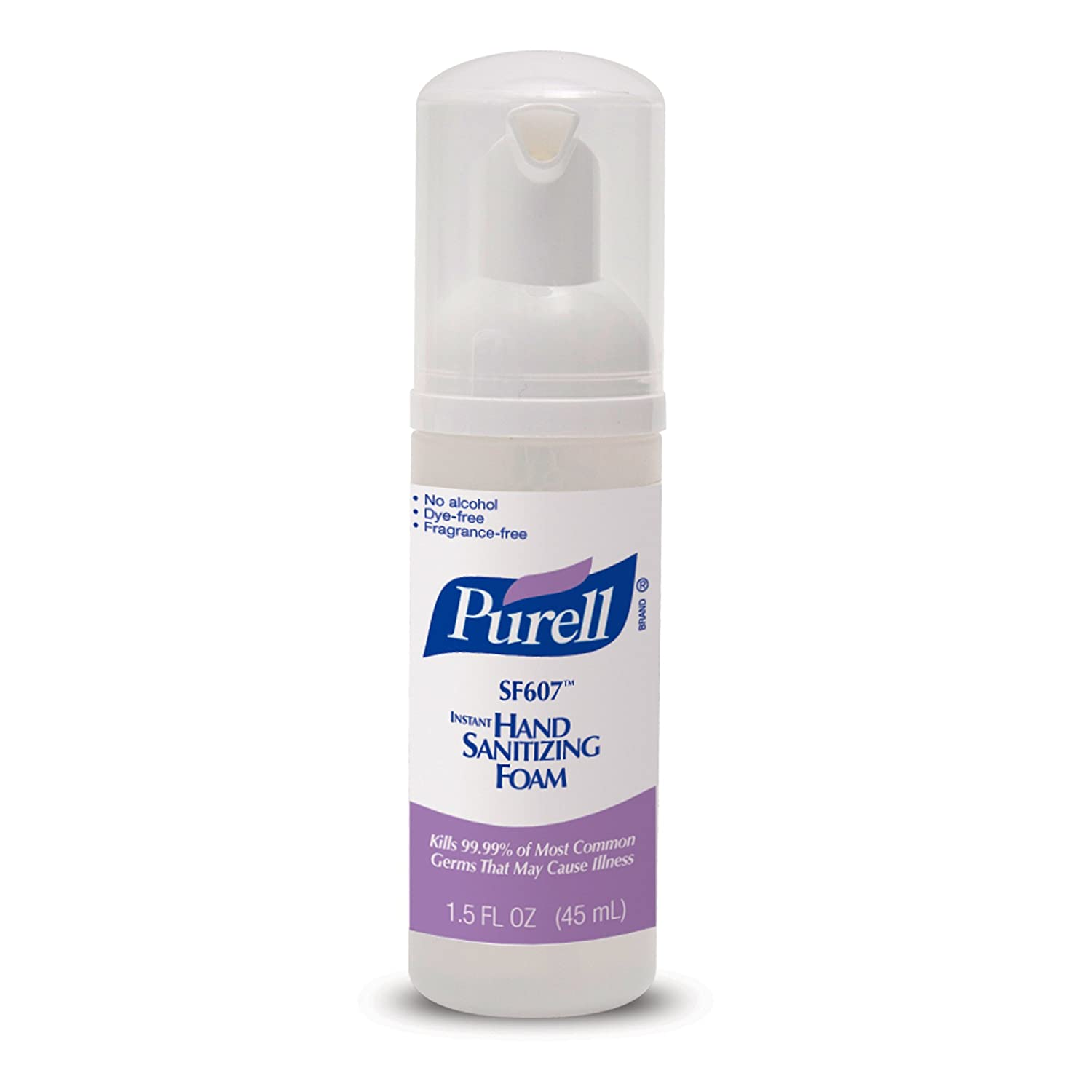 PURELL SF607 Hand Sanitizing Foam, Fragrance and Alcohol Free, 45 mL Hand Sanitizer Portable, Travel Sized Pump Bottle (Pack of 24) - 5684-24