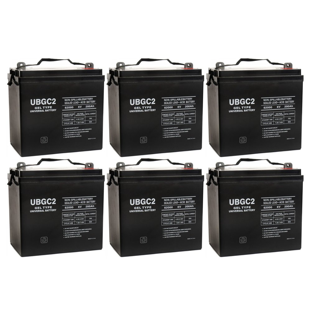 UBGC2 6V 200AH Battery Golf Cart RV Boat Camper Solar - 6 Pack by Universal Power Group