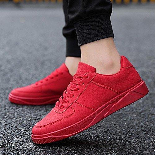 Tamaño Secundaria uk7 Lvzaixi Escuela Hombres Hombre Color Zapatos Placas Acogedor Ropa Rojo Estudiante Marea Eu40 De cn41 xfOYxU