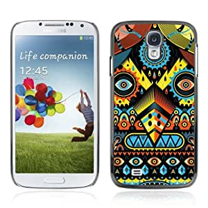 Designer Depo Hard Protection Case for Samsung Galaxy S4 / Psychedelic Colors Pattern Monster