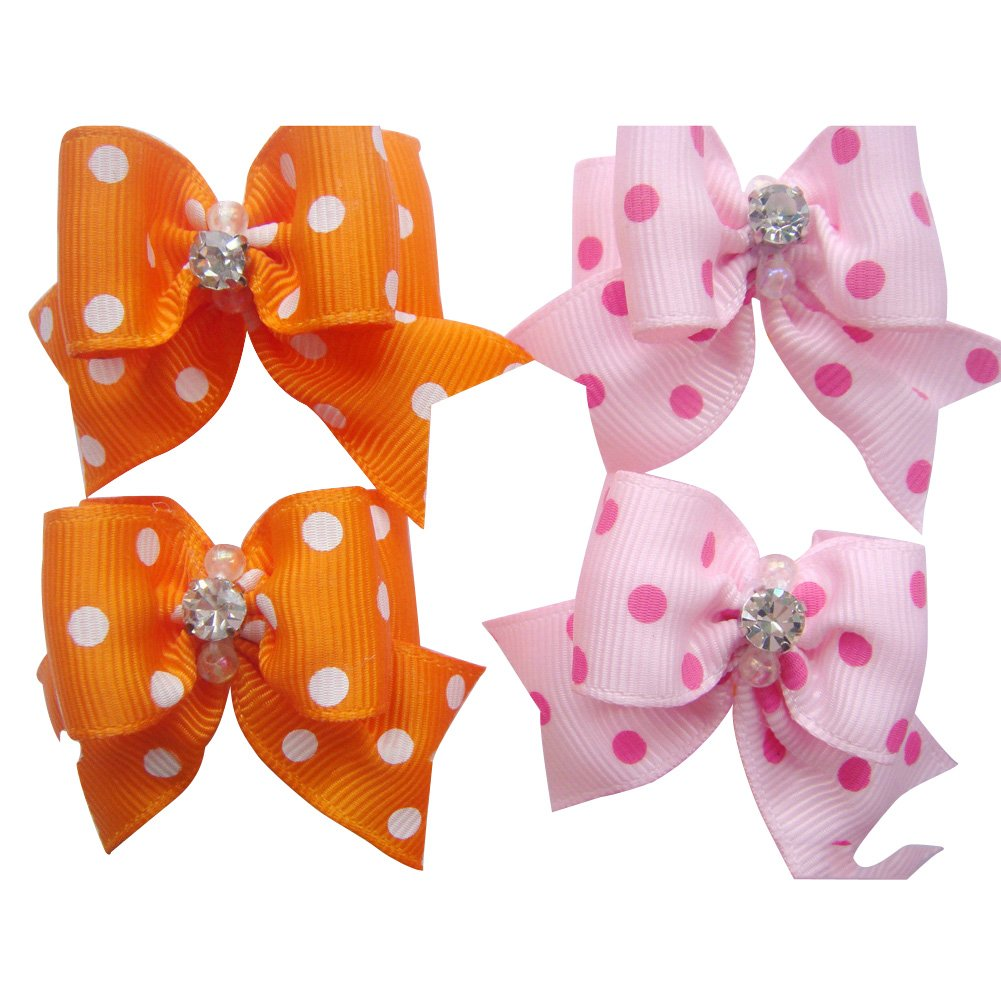 20 Pcs Pet Grooming Hair Bow Ribbon Gift Headdress Flower Hair Accessories for Dog Cat Puppy by Gozier (Image #7)