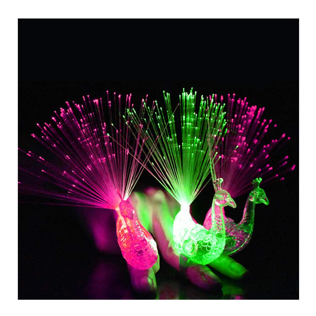 Weihnachts Halloween Geburtstag Party 12 Pcs LED Party Zubeh/ör Super Helle Pfau Licht Finger Mitgebsel f/ür T/äntze Dsaren Finger Licht