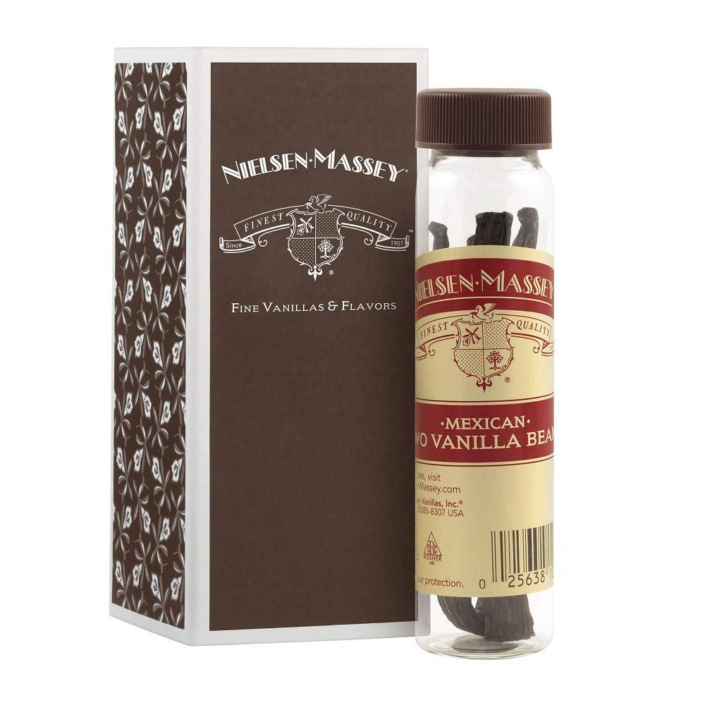 Nielsen-Massey Mexican Vanilla Beans, with Gift Box, 2-Bean Vial