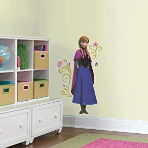 RoomMates RMK2737GM Frozen's Anna with Cape Giant Peel and Stick Wall Decals, Ice Palace