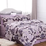 Bedsure Ocean Wave Pattern Comforter Set Bed in A Bag Full/Queen Size(88
