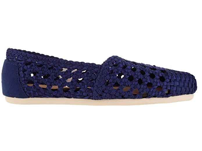 b200a2df82f83 TOMS Women's Dark Blue Satin Woven 10008004 (Size: 8)
