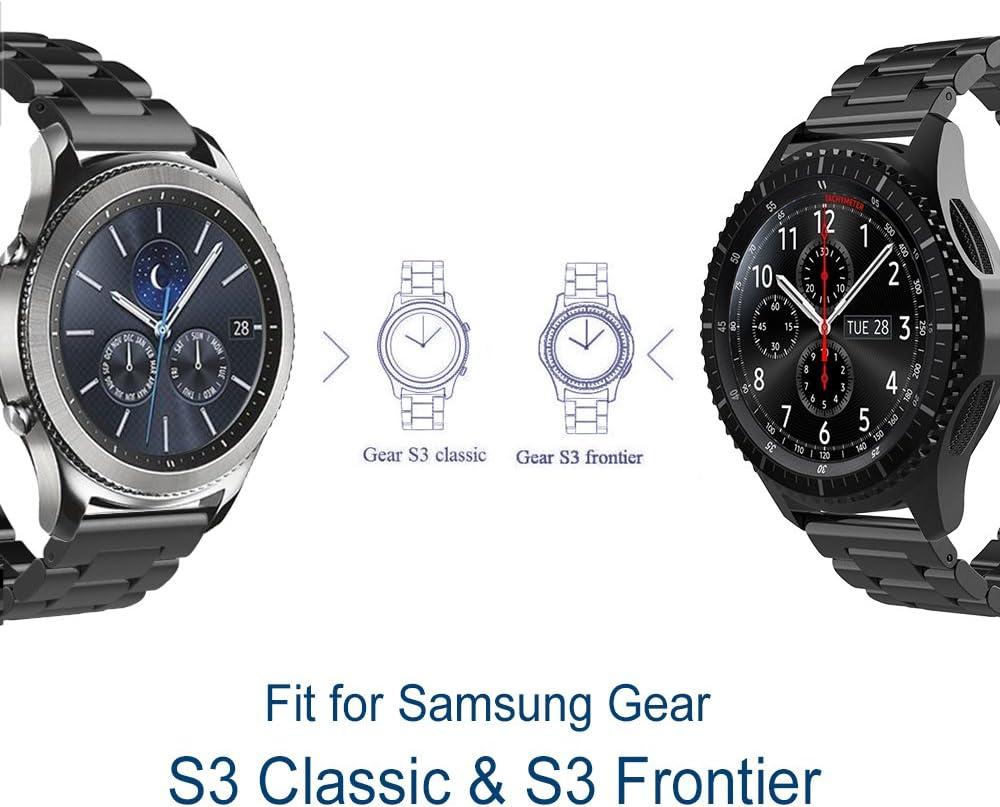 Samsung Gear S3 Cinturino,Simpeak Gear S3 Frontier Classic Banda in Acciaio In