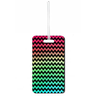 Ikat Chevrons print Jacks Outlet Set of 3 Luggage Tags with Customizable Back hot sale