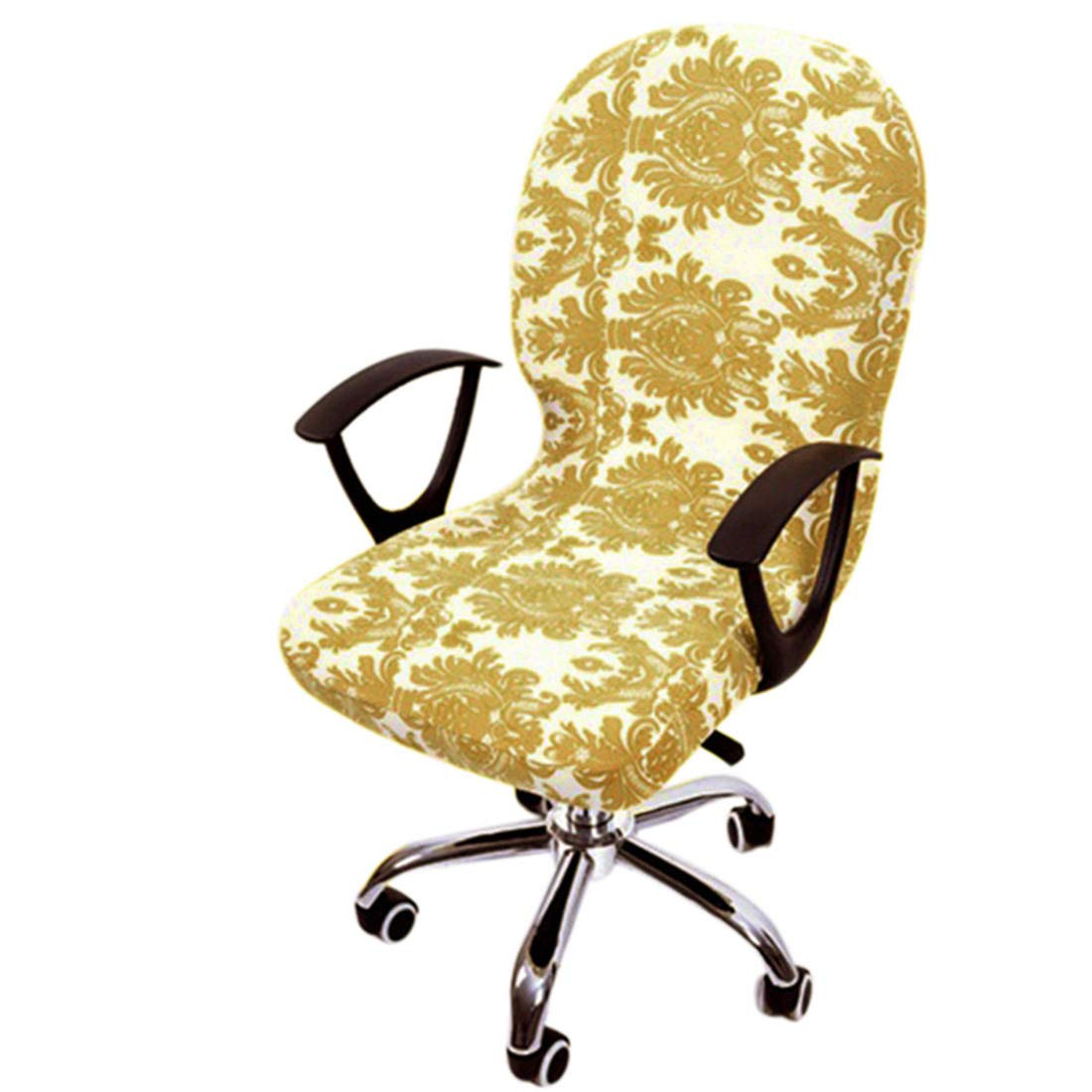 Freahap Chair Cover Stretchable Removable Computer Office Swivel Chair Cover #2