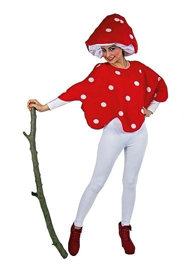 Costume fungo rosso e bianco da donna Taglia Unica  Amazon.it  Giochi e  giocattoli 11889fbeaa9e