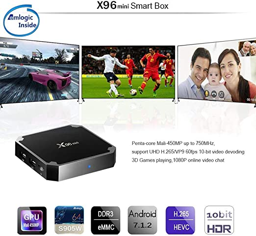 Android TV Box,X96 Mini Smart TV Box with 2G/16G HD Media Player,Support 4K WiFi Android Box with Remote Control: Amazon.es: Electrónica