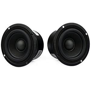 "3"" Tweeter Speakers HiFi Full Range Woofer Loudspeaker, 2 PCS 4 Ohm Anti-Magnetic Speakers for 2.0/2.1 Boom Box Satellites Speaker DIY (4Ω)"