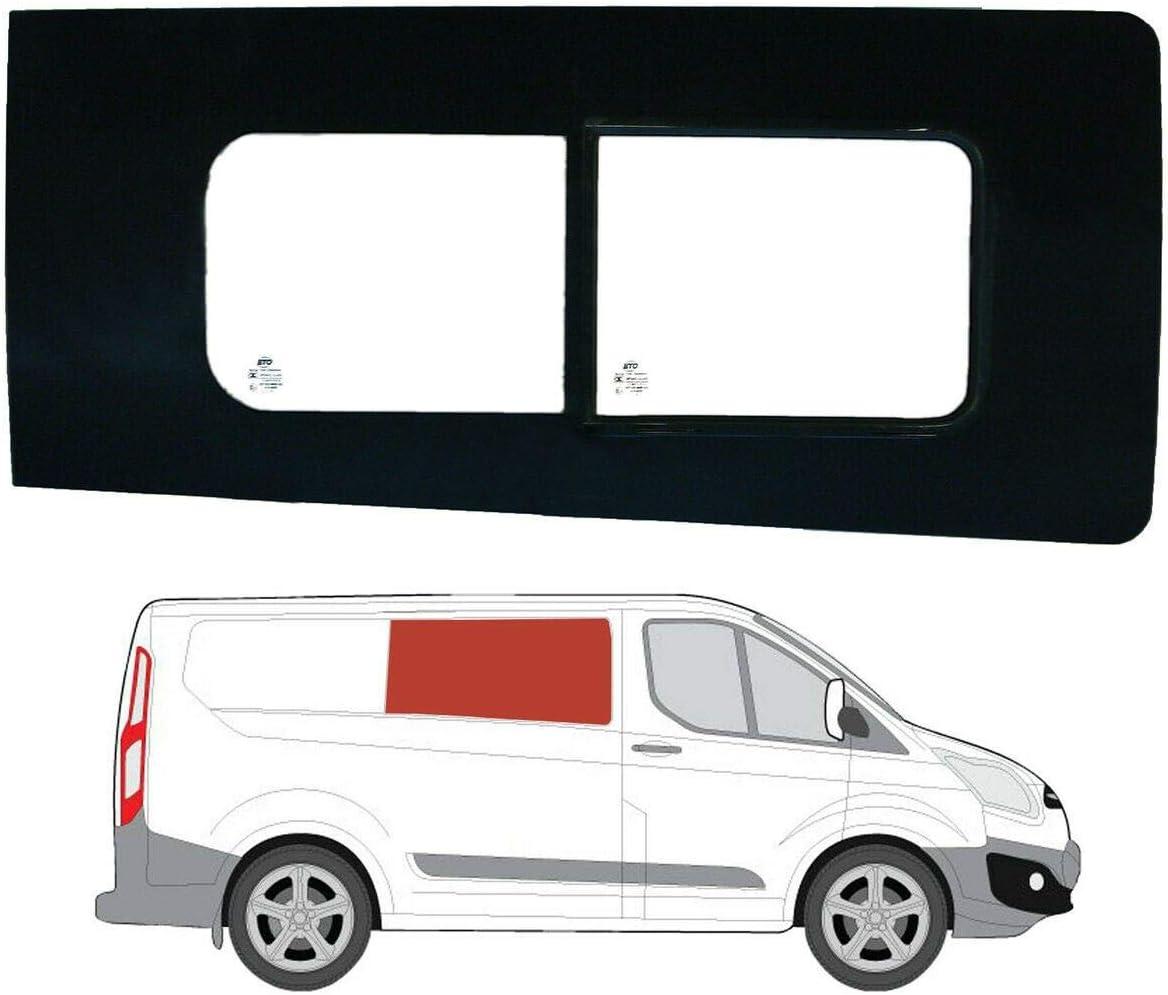 Mano derecha ventana de apertura transparente para Panel lateral OPP. Puerta Corredera Ford Transit Custom: Amazon.es: Coche y moto