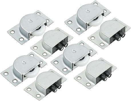 4 pares de rodillos para puertas correderas de muebles, 2,2 cm de diámetro: Amazon.es: Bricolaje y herramientas