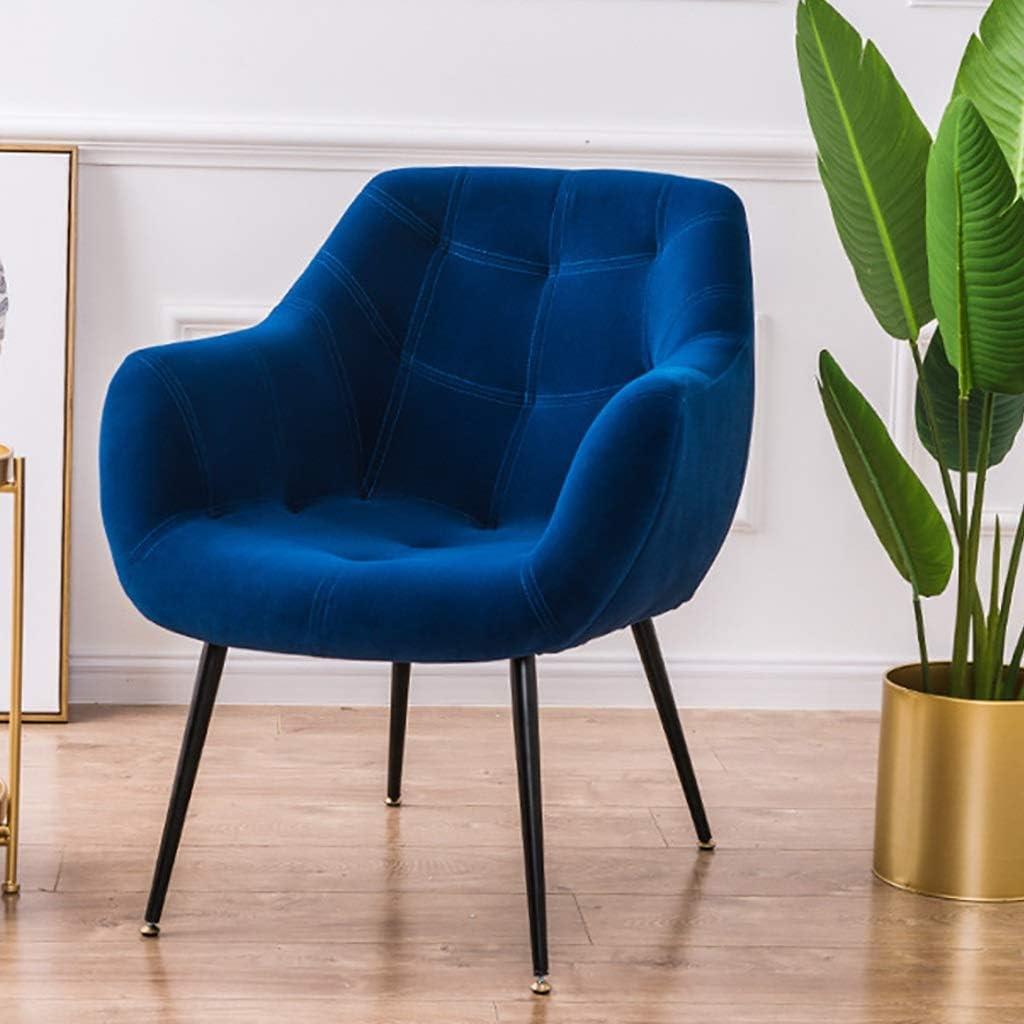 XZPENG Schlafzimmer Sessel Einzel Sofa Samt-Gewebe-Akzent-Stuhl Upholestered gelegentlicher Stuhl mit Massivholzbeine Modern Living Esszimmer Küche Moderne (Color : Green) Green