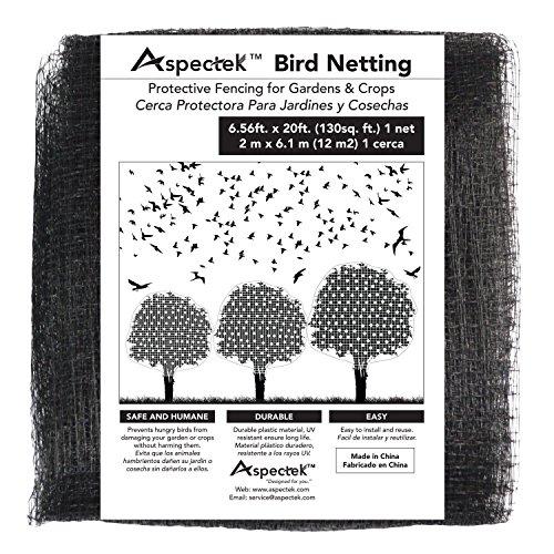 Aspectek Bird Netting Protective Fencing for Gardens and Crops, 7 X 20 Feet Netting Bird Block Garden Fence