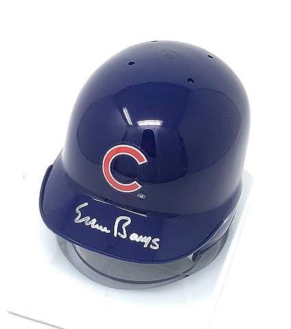 5b8416c1a5d Ernie Banks Chicago Cubs Signed Autograph Mini Helmet GTSM Banks Player  Hologram Certified