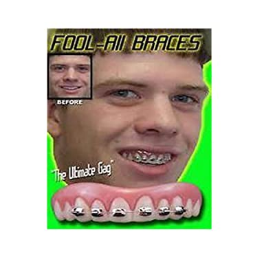 BILLY BOB TEETH WITH BRACES FAKE funny brace face Best Selling Costumes: Toys & Games