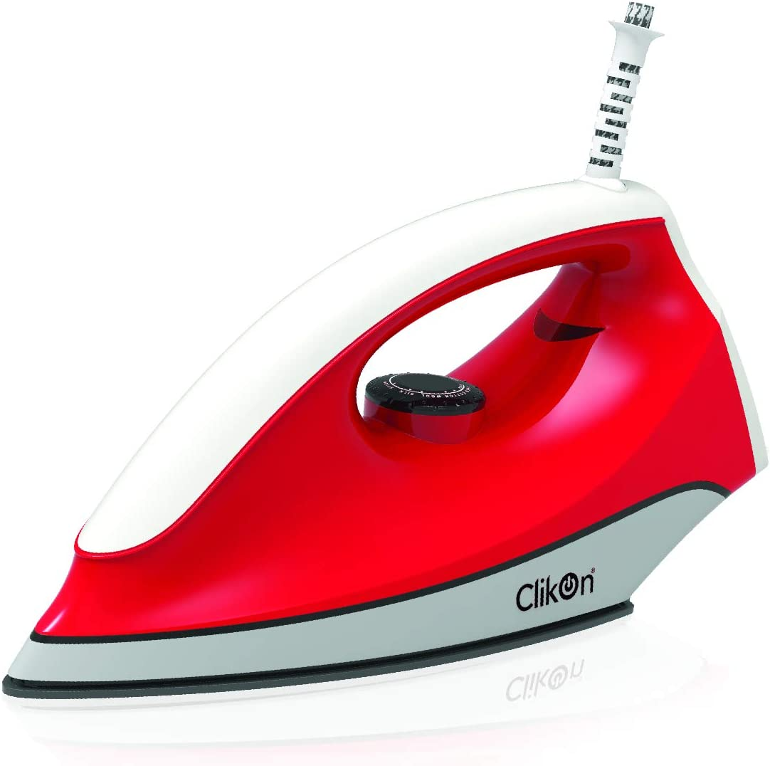 كليكون CK2133 مكواة كهربائية جافة ، احمر