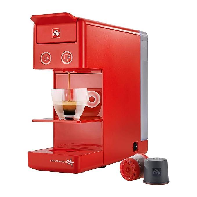 Illy Caffè Espresso und Coffee Máquina de café y3 Iperespresso 850 W, 0.75 litros, plástico, Rojo: Amazon.es: Hogar