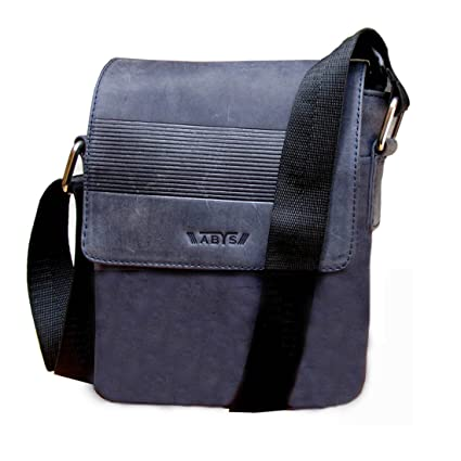 ABYS Blue Premium Quality Leather Messenger Bag  Neck Pouch for Men   Women   Amazon.in  Bags 5f1cbe329b
