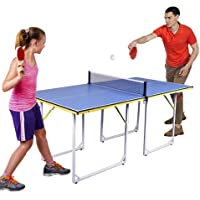 2020 Mesa De Ping Pong Plegable con Paletas De Tenis De Mesa Y Juego De Pelotas, Mesa De Ping Pong De Tamaño Mediano para Diversión Familiar