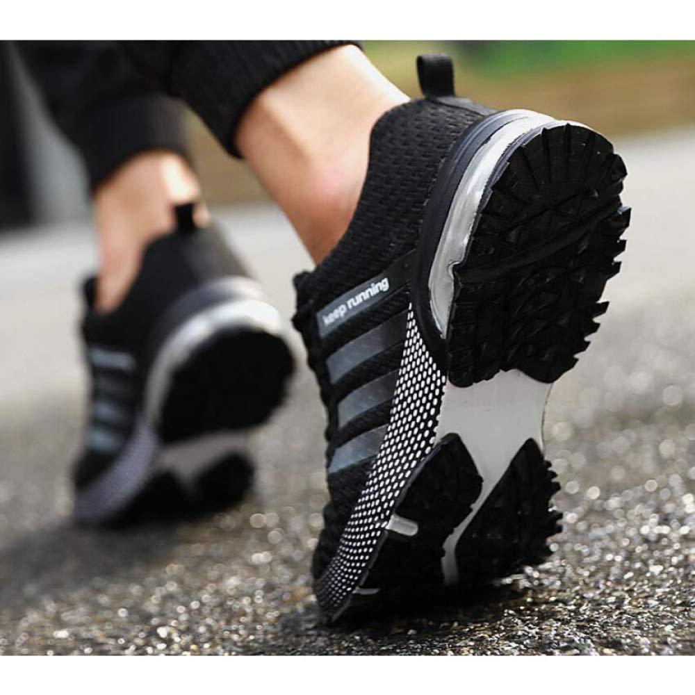 Turnschuhe Männer Laufschuhe Laufschuhe Laufschuhe Gestrickte Leichte Lässige Fitness Fitnessschuhe Trainer Joggen Lässig Turnschuhe,schwarz-EU43 UK9 US1010.5 B07MG9H2RG Sport- & Outdoorschuhe Keine Begrenzung zu üben a2398d