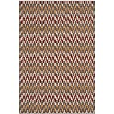 Cheap Safavieh Hampton Collection HAM518CD Dark Grey and Rust Indoor/Outdoor Area Rug (5'1″ x 7'7″)