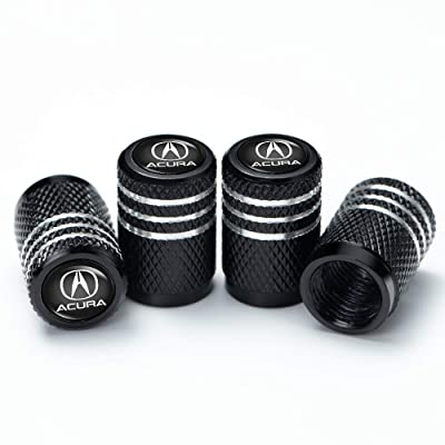 PATWAY 4 Pcs Metal Car Wheel Tire Valve Stem Caps for Acura RLX RDX MDX ILX TLX Logo Styling Decoration Accessories.: Automotive
