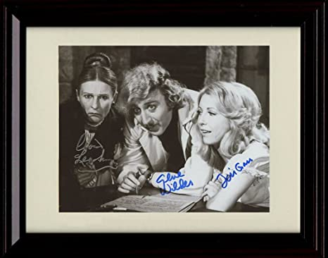 Amazon Com Framed Gene Wilder Autograph Replica Print Young Frankenstein Posters Prints