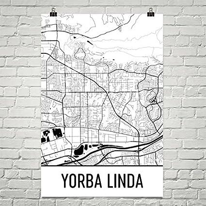 Where Is Yorba Linda California Map.Amazon Com Yorba Linda Ca Map Yorba Linda Art Yorba Linda Print