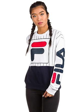 Fila Damen Sweater Date Prt Crew Sweater: Amazon.de: Bekleidung