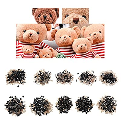 Fmingdou 100Pcs/Bag DIY Doll Toy Eyes Black Plastic Safety Eyes Puppets Doll with Washers (5mm): Toys & Games
