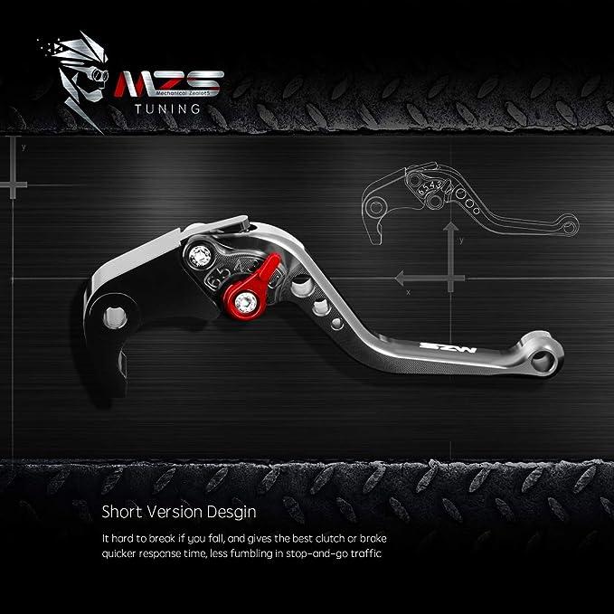 MZS Short Levers Brake Clutch CNC for Buell M2 Cyclone 1997-2002// S1 Lightning 1997-1998// X1 Lightning 1998-2002// XB12R XB12Ss XB12Scg 2009 Black