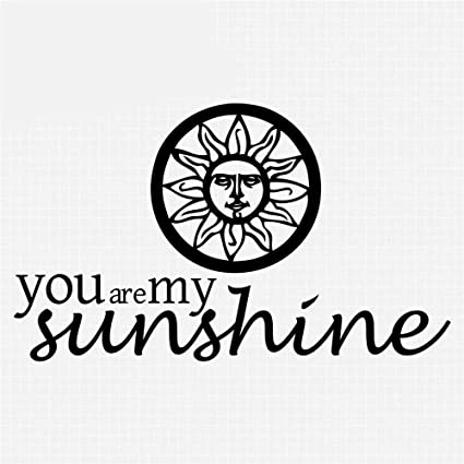 . Amazon com  Vinly Art Decal Words Quotes Sunshine Home D cor Sun