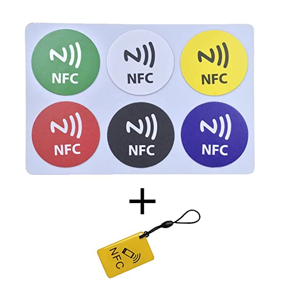 Amazon com: 6+1 NFC tags NTAG213 Fully programmable, and