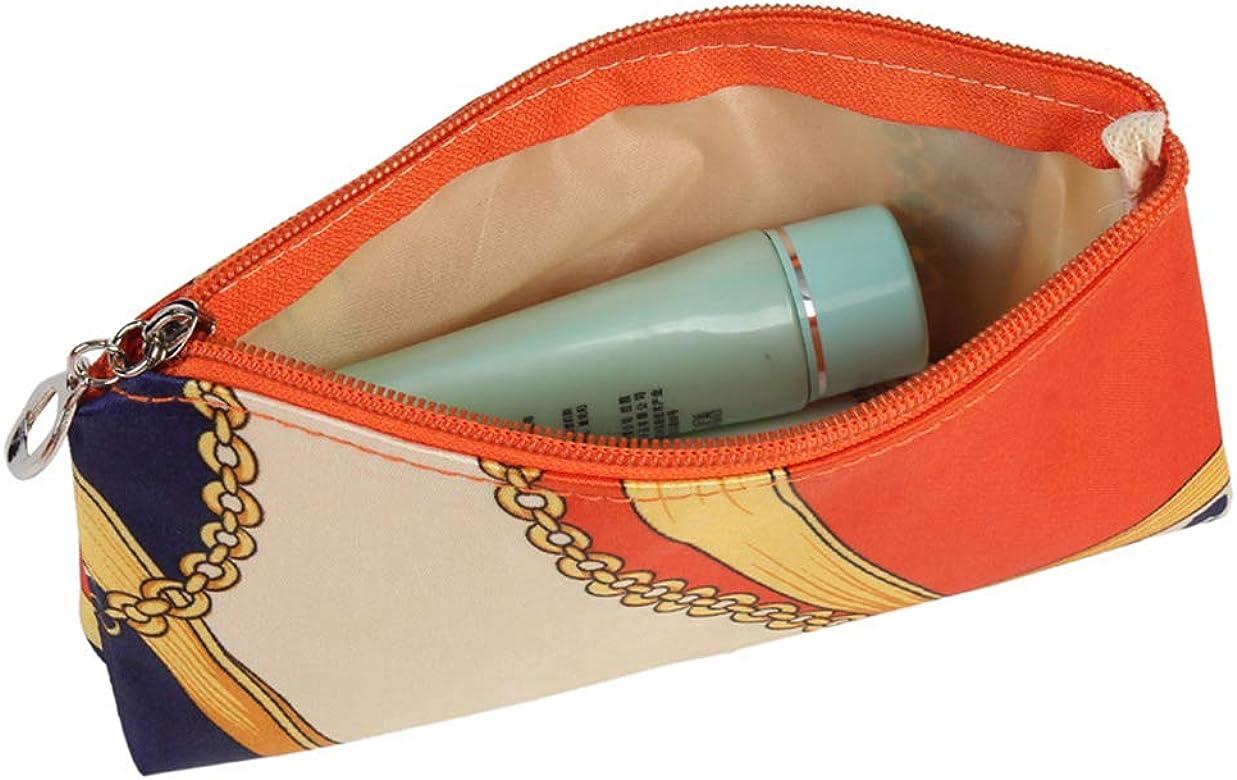 Mibuy 2020 Bolsa De Aseo Neceseres De Viaje Bolso Cosmético Bolso De Maquillaje Bolsa De Almacenamiento Portátil Estuche De Maquillaje con Asa Makeup Lindo Leopardo Bolsa (Orange): Amazon.es: Ropa y accesorios