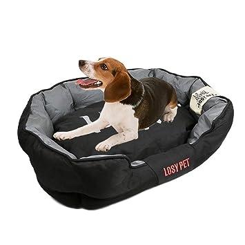 UNHO Cama para Perros Sofá Impermeable y Lavable con Cojín Extraíble Cómodo Casa para Mascotas Perros Gatos Cachorros Tamaño M 70 x 53 x 23cm: Amazon.es: ...