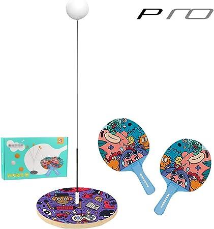 XLOO Juego de Entrenador de Tenis de Mesa de Anime, Juguete para niños de Interior, con Eje Suave elástico y 2 Raquetas, ayudante de Entrenamiento de Pelota de Ping Pong, Lindo: Amazon.es: