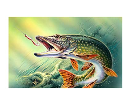 The Bass Fishing Wallpaper Poster Wall Decor Art Print 24x36 Inches Photo Paper Material Custom