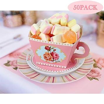 Amazon.com: AerWo - 50 cajas de caramelos para té, fiesta de ...
