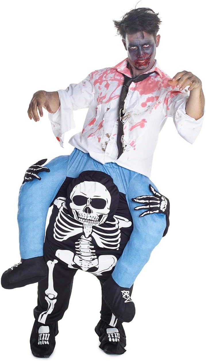 Morph kostuum pak Eén maat skelet.