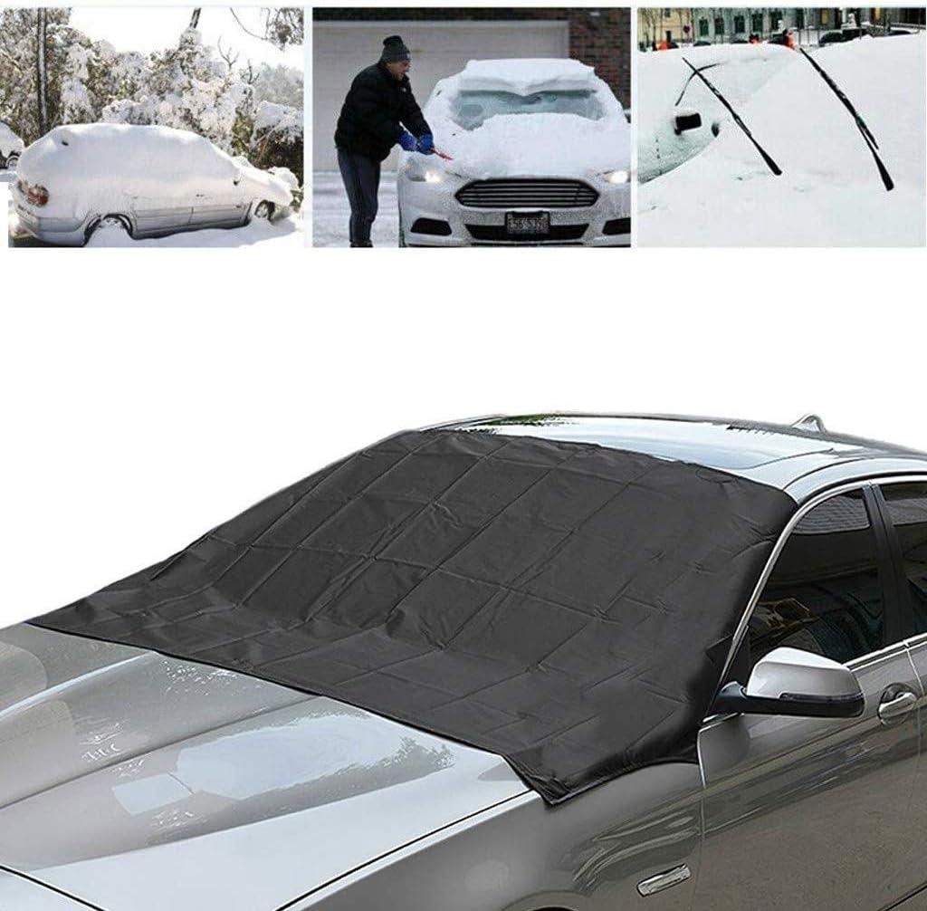 Staub und Sonne 210 x 120cm Voarge Frontscheibe Abdeckung Frost EIS f/ür die Windschutzscheibe gegen Schnee Auto Scheibenabdeckung Winterschutz Abdeckung Magnet Faltbare Auto Frostabdeckung