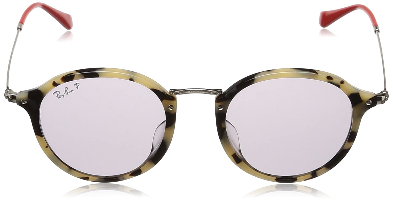 4c825e64dd Amazon.com  Ray-Ban Men s 0rb2447f Polarized Iridium Round Sunglasses BEIGE  HAVANA 49.2 mm  Clothing