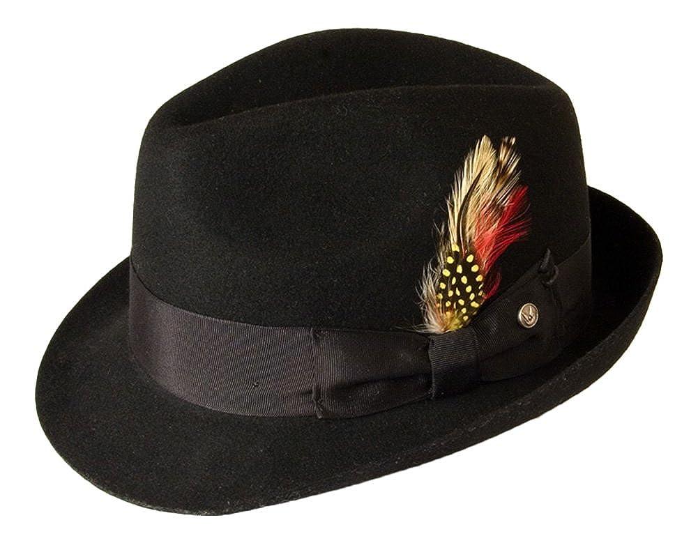 Gamble & Gunn 'Kempton' Black Wool Felt Vintage Style Fedora