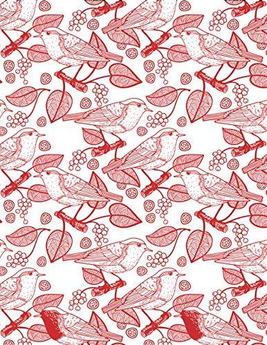 Sanbao Studio Ceramic Decals, Birds and Leafs (Red)