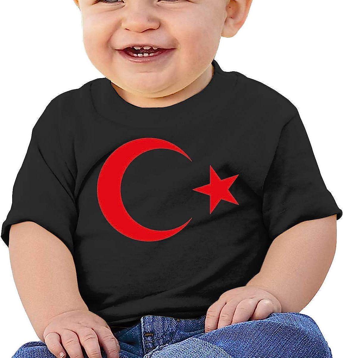 Turkish Emblem Baby Short Sleeve T Shirt 100/% Organic Cotton Cute Baby Top