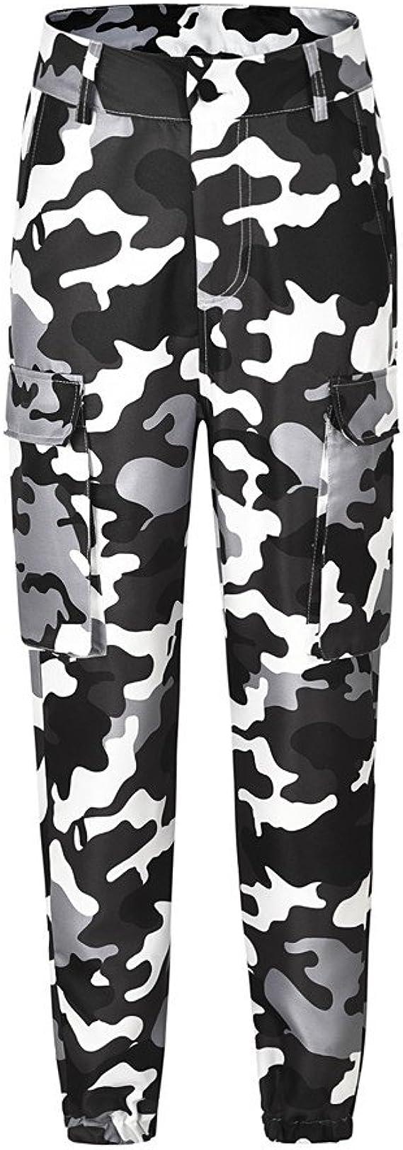 Pantalones Militares Mujer Cintura Alta Pantalon De Camuflaje De Chandal Hip Hop Punk Rock Casuales Tumblr Streetwear Sin Cinturon Moda 2019 Yvelands Amazon Es Ropa Y Accesorios