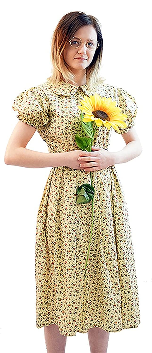 1940s Children's Clothing: Girls, Boys, Baby, Toddler MISS HONEY FLORAL DRESS & GLASSES Fancy Dress Costume - All Ages/Sizes $41.99 AT vintagedancer.com