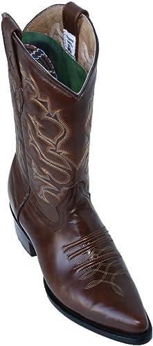 Men's Smooth Genuine Leather Cowboy